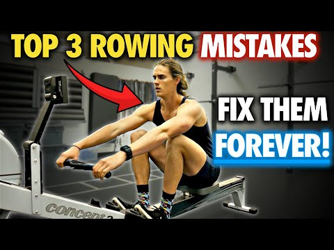 Rowing Machine: TOP 3 MISTAKES (AND DRILLS TO FIX THEM!)