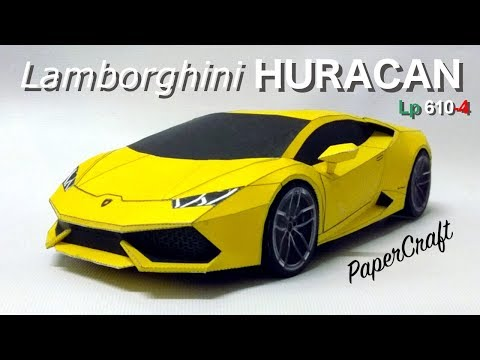 Lamborghini Huracan PaperCraft - full build video remake.