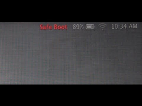 How to Boot up a Macintosh in Safe Mode