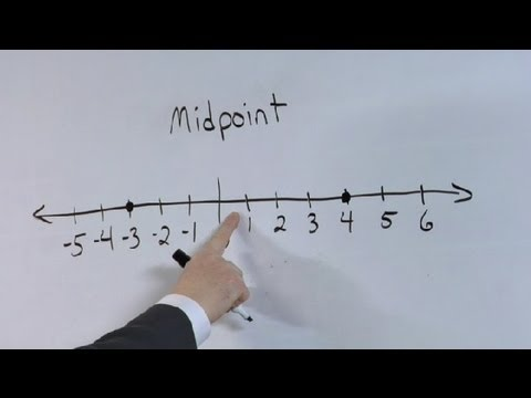 How to Show the Midpoint on a Number Line : Math Made Easy