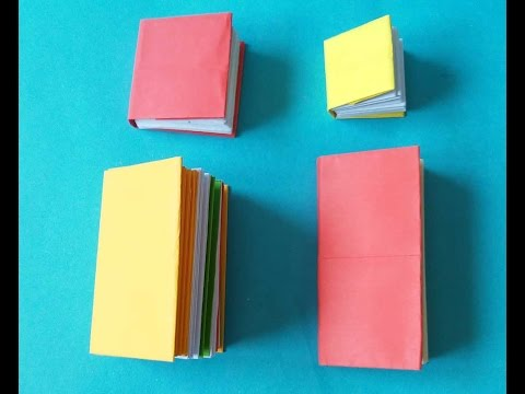 Xếp tập ghi chú - note book - origami