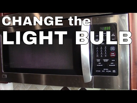 CHANGE THE LIGHT BULB in a LG or Samsung MICROWAVE OVEN -- HOW TO