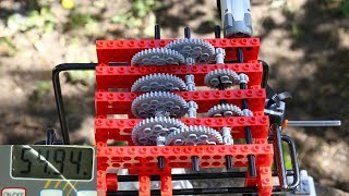 Testing different lego gear systems for hoisting
