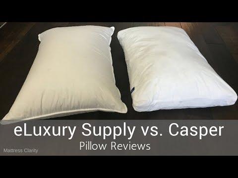 Pillow Reviews: eLuxury Supply Hotel White Goose Down vs Casper