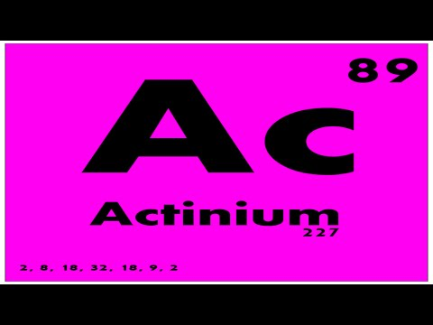 STUDY GUIDE: 89 Actinium | Periodic Table of Elements