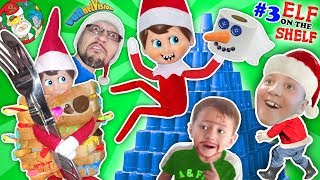 STACKING CUPS Elf on the Shelf Tower! DIY Build a Snowman Toilet Paper Craft FUNnel V Fam Vlog