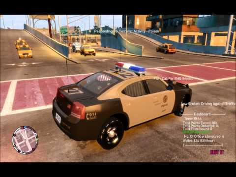 GTA 4: Episode From Liberty City - LAPD respond to a terrorist attack