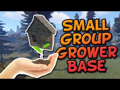 GROUP GROWER - A Rust solo/duo/trio small group staged base build