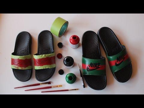 How To Make Custom Gucci x Nike Sandals