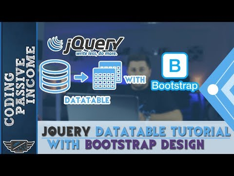 jQuery DataTable Tutorial With Bootstrap Design For Beginners