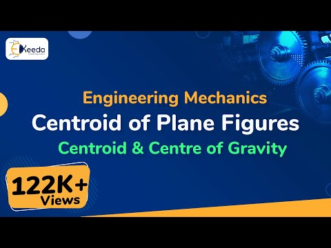 Centroid of Some Plane Figure - Centroid & Center of Gravity - Engineering Mechanics - First Year