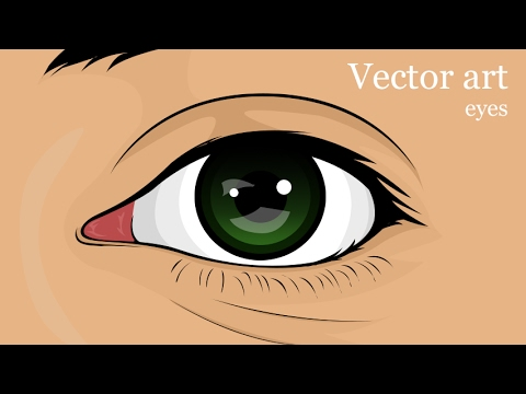 How to draw a simple vector eye