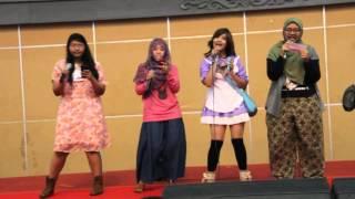 Rekaman dari Utattemita Stage Comifuro 5, dibawakan oleh kakak-kakak pengisi suara pada Love Live dub Indonesia dari komunitas fandub Anime Voice Gakuen (AVG)  Cast (kiri-kanan) :  Minami Kotori - Haruno Mizuhime https://www.facebook.com/utahimesama  Kousaka Honoka - Hana Triana https://www.facebook.com/fleurishana  Hoshizora Rin - Kairi Kazu https://www.facebook.com/kairi.vatel  Nishikino Maki - Fuicchi Nee https://www.facebook.com/fuicchi.nee  -----------------------------------------------  Fanpage Comifuro : https://www.facebook.com/Comifuro  Fanpage Anime Voice Gakuen : https://www.facebook.com/animevoicegakuen