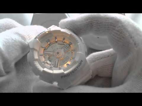 Casio White Baby G Ani Digi 3D Watch BA110-7A3