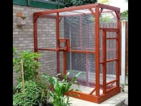 how to build homemade outdoor bird aviary