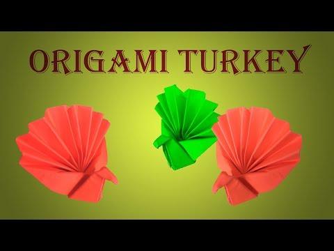 Tutorial For Origami Turkey - Easy Diy Paper Turkey; Happy Thanksgiving !