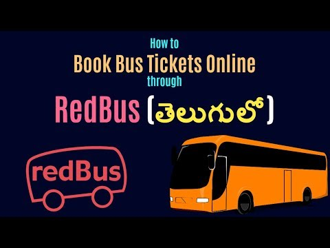 How to Book Bus Tickets online through RedBus 2017 (Telugu)