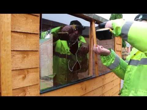 How to fix a broken garden shed window