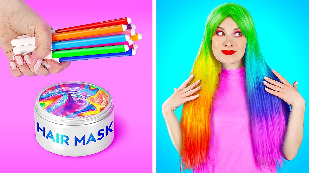 AWESOME DIY RAINBOW TRICKS TO DO AT HOME || TikTok Challenge! Hacks With Real Voices By 123 GO! BOYS
