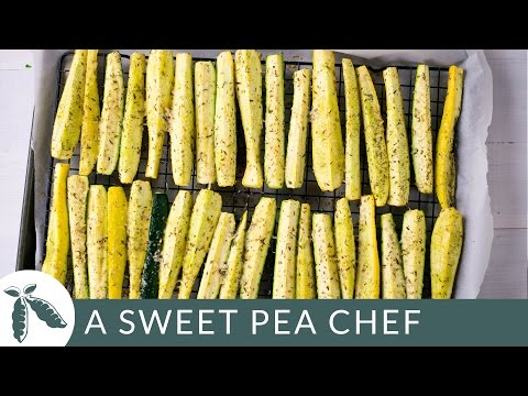 Baked Squash And Zucchini Parmesan Spears | A Sweet Pea Chef