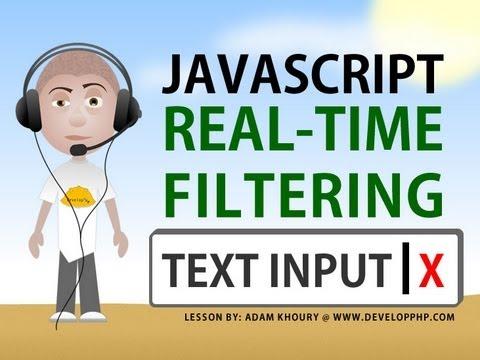 Real Time Text Input Filter tutorial Program Textarea Javascript HTML Tutorial