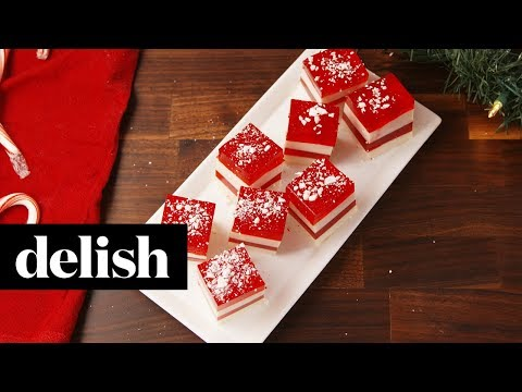 Candy Cane Jello Shots | Delish