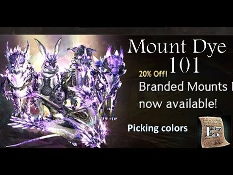 Branded Mount Dye 101 - not a preview - let's pick colors