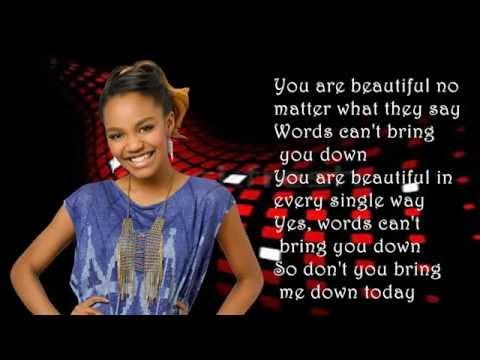 China Anne McClain- Beautiful (Lyrics Video)