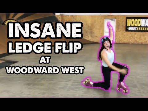 PRS Live! - Ledge Flip at Woodward West on Roller Skates
