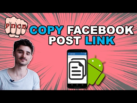Copy Facebook post url on Android