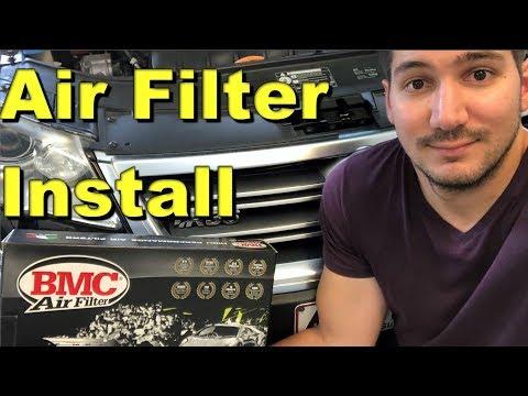 Installing a BMC air filter - R36 Passat