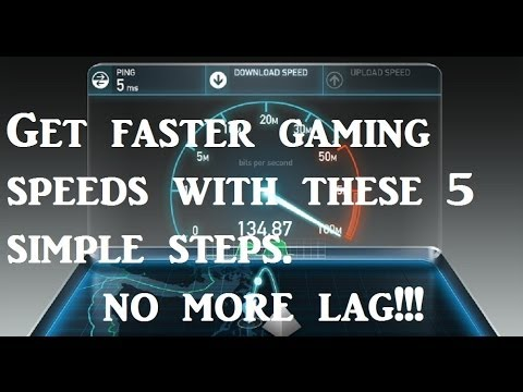How To Speed Up & Increase Your Internet Speed For Gaming In 5 Steps - No More Lag!