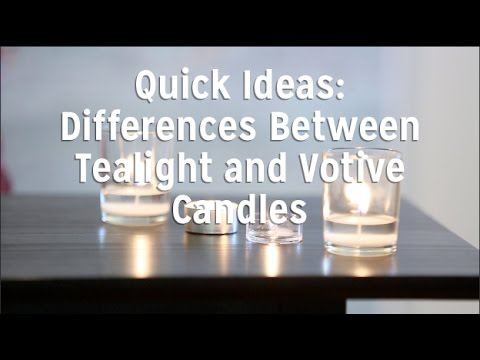 The Difference Between Tealight Candles and Votive Candles.
