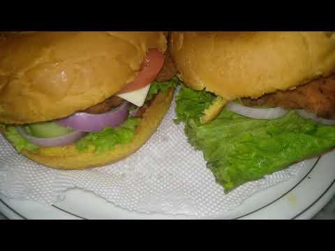 Chicken Tender burger | KFC style chicken burger by Faiza Foodie