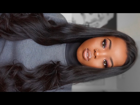 NATURAL LOOKING LACE FRONT WIG  || INSTALLATION & BRAIDING TUTORIAL