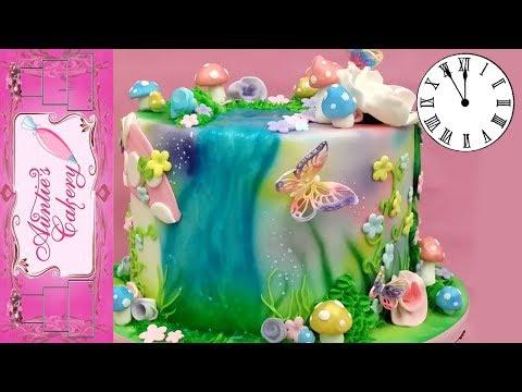 Fairy Garden Cake Time Lapse Tutorial