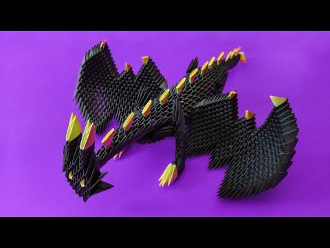 3D Origami Dragon Tutorial   Part 2