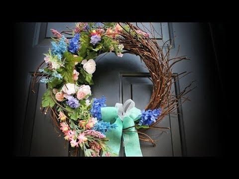 DIY Bird's Nest Spring Wreath