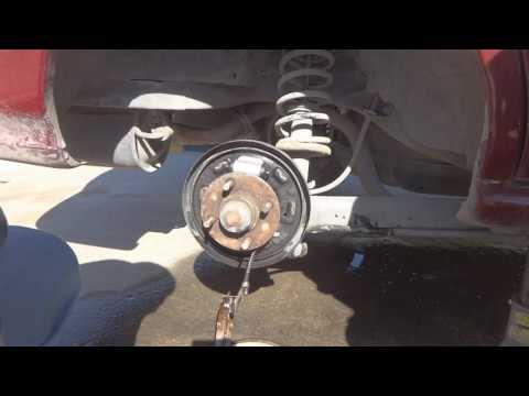 Car rear brake repair. Complete detailed repair instructions.