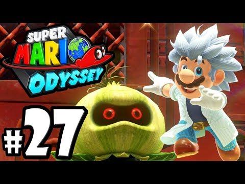 Super Mario Odyssey - Switch Gameplay Walkthrough PART 27: Steam Gardens Moons - Wooded Kingdom