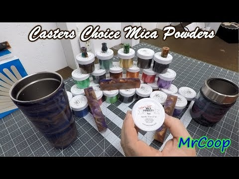 Casters Choice Mica Powders For Epoxy Tumblers Ink Pens And More