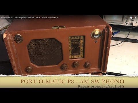 Port-o-matic - The Antique IPOD of the 1930's - Repair project Part 1