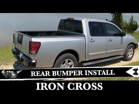 How To Install Rear Iron Cross Bumper - Nissan Titan Project