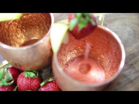 Frozen Strawberry Lemonade Moscow Mule