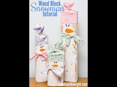 Wood Block Snowmen: A step by step tutorial part 1