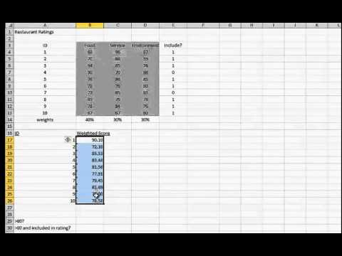 Select numbers that meet certain conditions COUNTIF and SUMIF