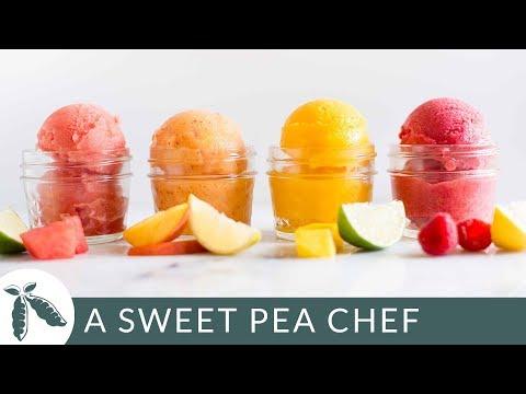 4 Easy Fruit Sorbet Recipes   A Sweet Pea Chef