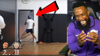 FLIGHT PUNCHED THE WALL FRUSRATED LOL! TJass 1v1 FlightReacts Basketball!
