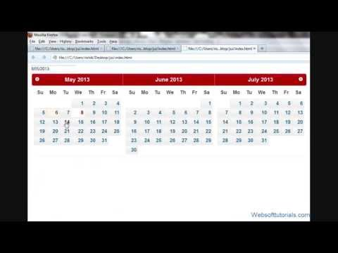 jquery tutorials for beginners - 55 - jquery datepicker