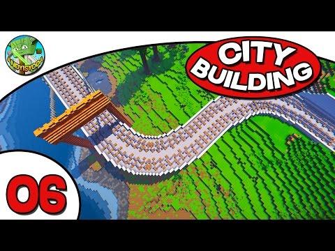 Minecraft City Building E06  - Railway Time!